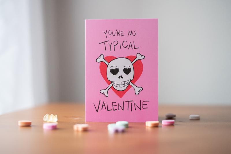 No Typical Valentine Greeting Card valentine card illustration valentines day card greeting card valentines day bash valentines day