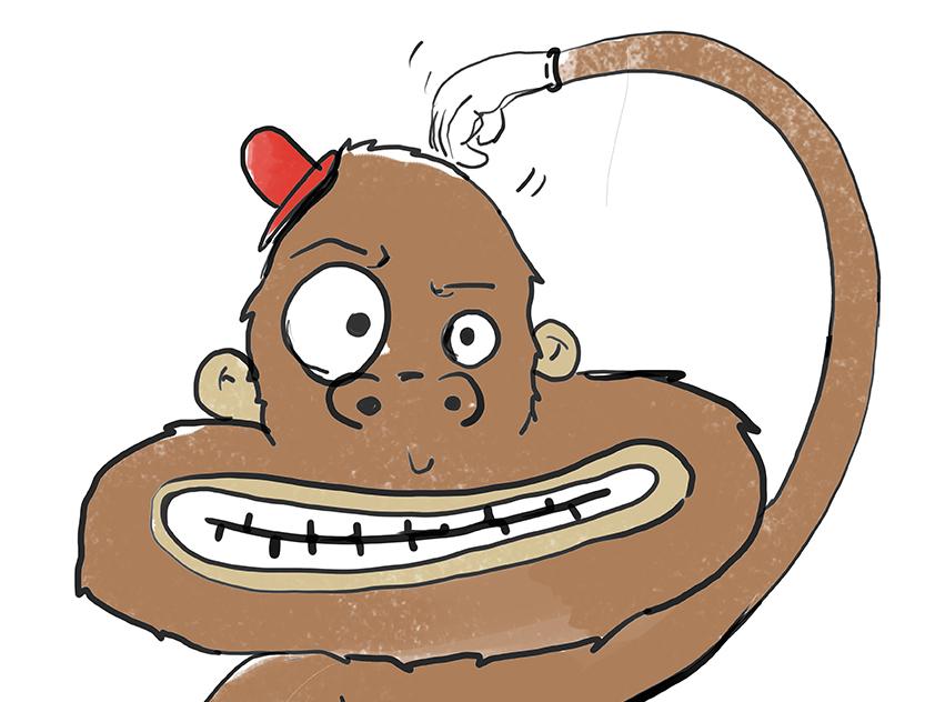 Crazy monkey фотошоп
