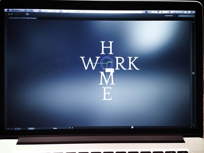 Personal Design real life typography balance work home