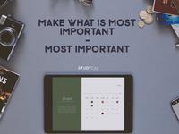 Study Calendar App Design