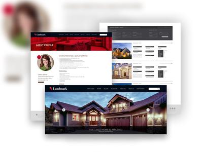 Realtor Website Design ux ui design housing house realtor system strategy site map website