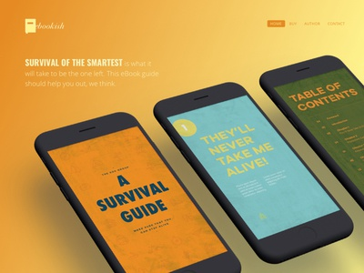 Product Web & Layout Design gradient mobile guide survival product web ebook
