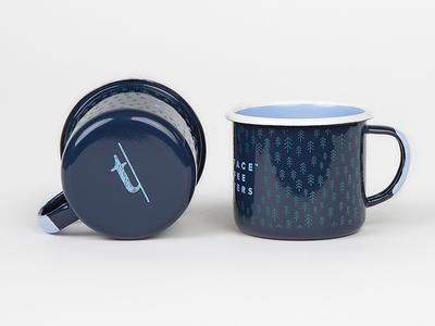 Typeface Branding & Swag camp mug lettering typography illustration design logo branding