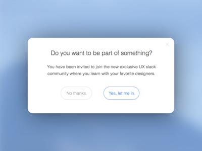 Modal UI Popup (Free Sketch Download)