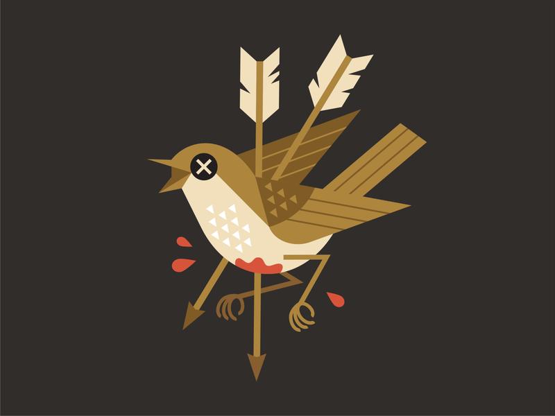 Dead bird geometric art geometric design geometic tattoo arrow dead bird emblem logo vector design character illustration