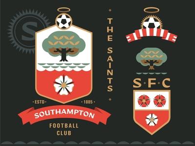 Southampton fc southampton the saints premier league football logo emblem vector design illustration