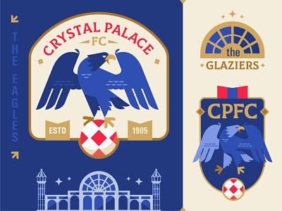 Crystal Palace FC flat geometry england crystalpalacefc crystalpalace palace eagle premier league football emblem logo vector design illustration
