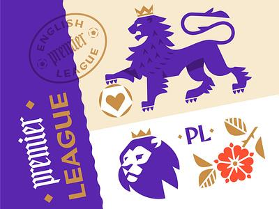 Premier League geometric art geometric design coat of arms leo lion premier league football emblem logo character vector design illustration
