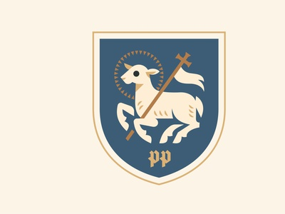 Preston North End Football Club emblem geometricart illustration design character logo vector emblem lamb england championship football prestonnorthend preston