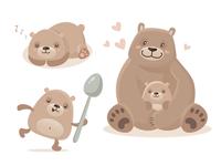 Teddy bear characters