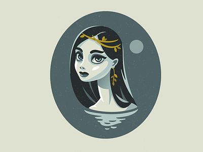 Mermaid sea mermaid vector logo design character illustration