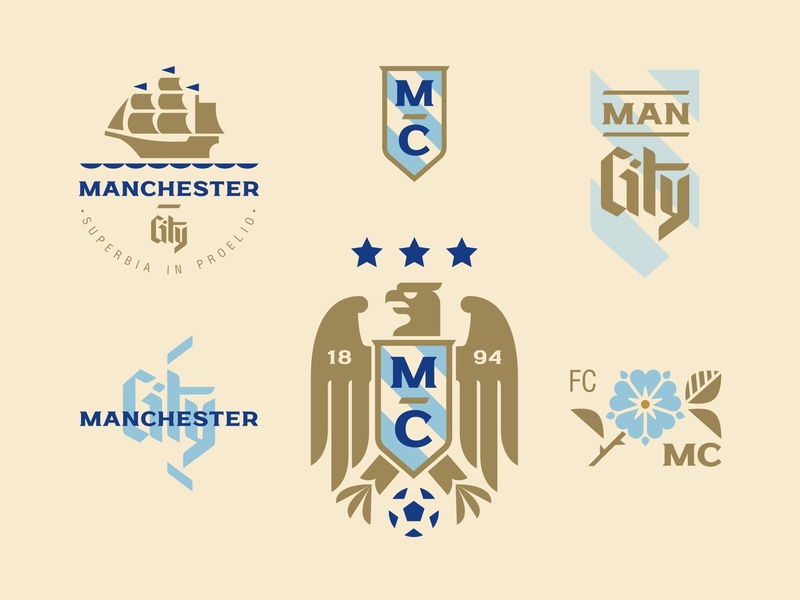 Man City shot vector illustration man city manchester city football logo emblem