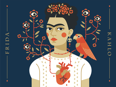 Frida artist mexico frida fridakahlo vector design character illustration