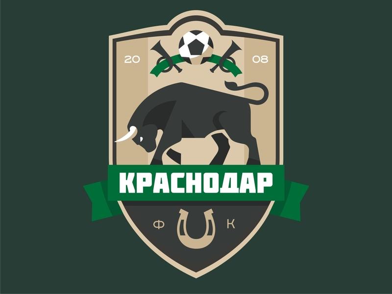 Krasnodar FC champions league fckrasnodar football bull emblem logo vector design character illustration