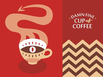 TP coffee coffe twin peaks emblem logo vector design illustration