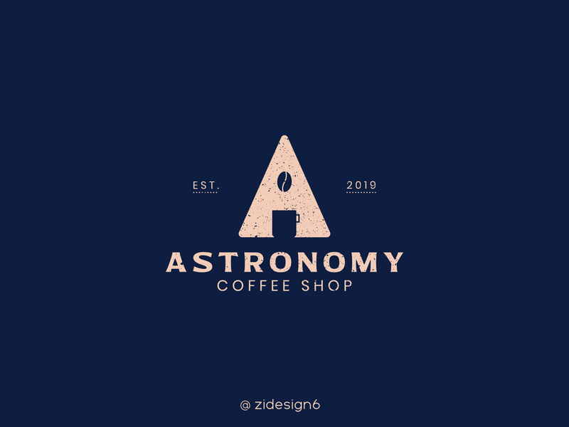 Astronomy logo branding logomark logodesign illustrator design logo illustration coffee shop coffee space astronomy