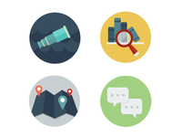 Explore, Discover, Connect, & Learn Icons