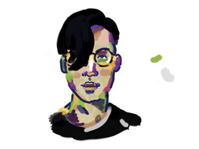 selfie character illustration painting study portrait