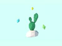 3D Prickly Pear Cactus