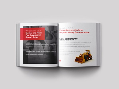Ardent Fire Protection square printing clean print b2b illustrator protection fire design booklet
