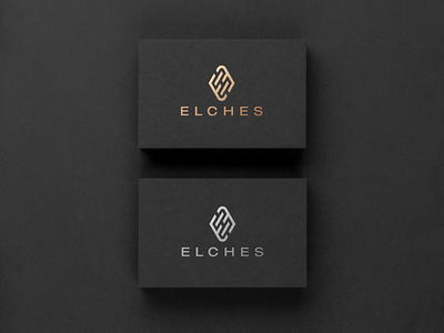 Elches gold foil foil illustrator connecting silver b2b ee trendy fashion shoes e branding luxury business card mockup gold logo brand