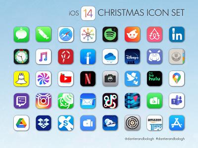 a very merry christmas ios 14 icon pack! ux digitalart ui branding christmas icons ios14homescreen ios14 iconpack ios14 icons ios14