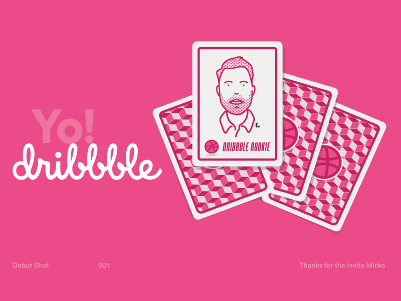 Dribble Debut personal branding designer webdesign ux uiux ui rookie design debutshot debut brand