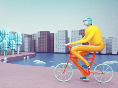 Riding a bike 3d 3d animation studio 3d illustration 3d modeling cinema 4d 3d art 3d artist 3d animation