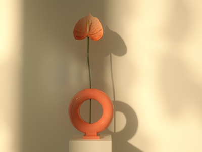 Flower and Vase 3d illustration 3d animation studio 3d 3d artist 3d modeling cinema 4d 3d animation 3d art