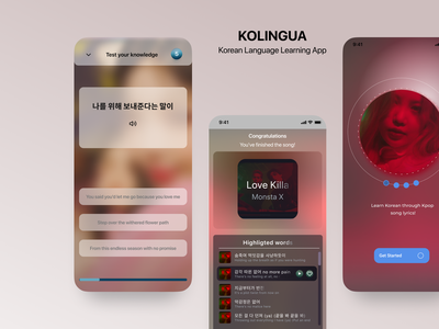 Kolingua | Korean Language Learning App UI Design designer uiux design uxui ui ux app design uxdesign product design mobile ui mobile app ui design mobile app design language app learning app app designer