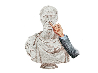 Nose Flicked romanesque bust nose flicked nose illustration