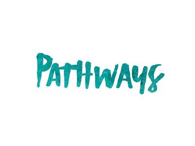 pathways script header credits film titles script hand script handtype illustration