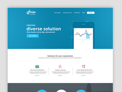 Finja dashboad template interface ux ui
