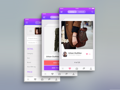 e commerce app app dashboad template interface ux ui