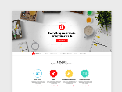 Designhub template interface ux ui