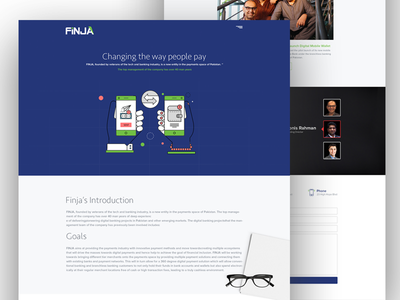 Stealth startup Design for FInja dashboard payroll mockup colors ux app ui