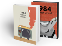 """1984"" inspired book cover re-design"
