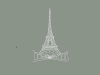 """Eiffel Tower"" graphic"