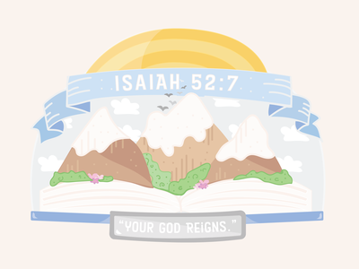 Mission Trip: Fundraising Material Graphic (Isaiah 52:7)