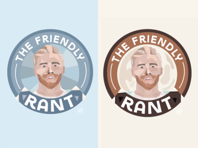 """The Friendly Rant Podcast"" Logo + Branding Work."