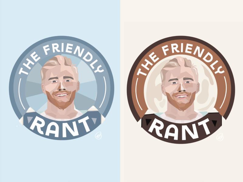 """""""The Friendly Rant Podcast"""" Logo + Branding Work. branding austin designer austin texas design illustration graphic art podcast cover podcast logo podcast"""