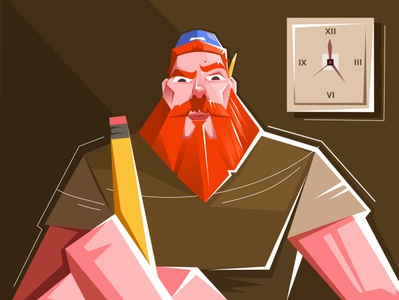 Perspective vector unique creative character pencil beard rush illustration artist quick time art drawing adobe illustrator