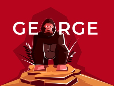George fonts animals gorilla animal font branding inspire design concept creative art drawing vector adobe illustrator