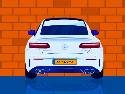 Benz AMG E S3 Illustration mercedes benz benz carillustration illustraion car