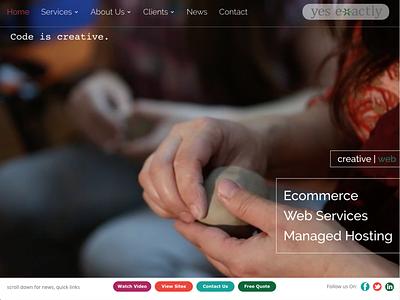 Yes Exactly, Inc. responsive design logo branding ux video background website redesign art direction