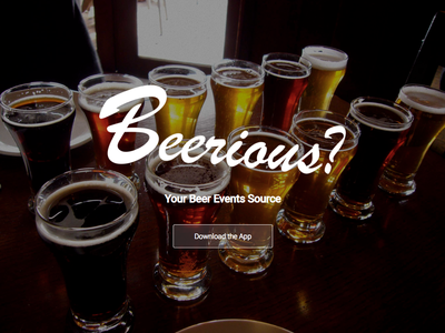 Beerious? Website Landing Page responsive ui website redesign web design web ux logo design branding art direction