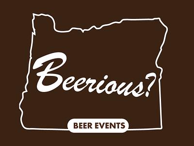 Beerious? Logo identity typography branding design logo