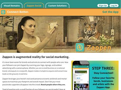Zappen Website augmented reality gif animation web web design responsive logo branding design art direction