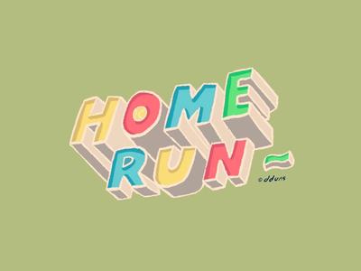 home + run