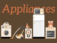 Sticker set- Home Appliances